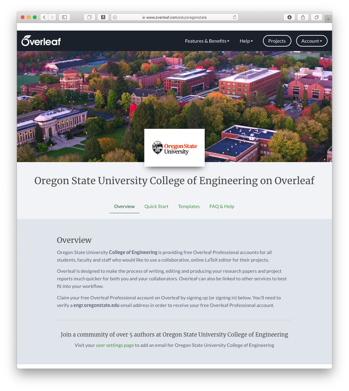 Overleaf (formerly ShareLatex)   Information Technology and