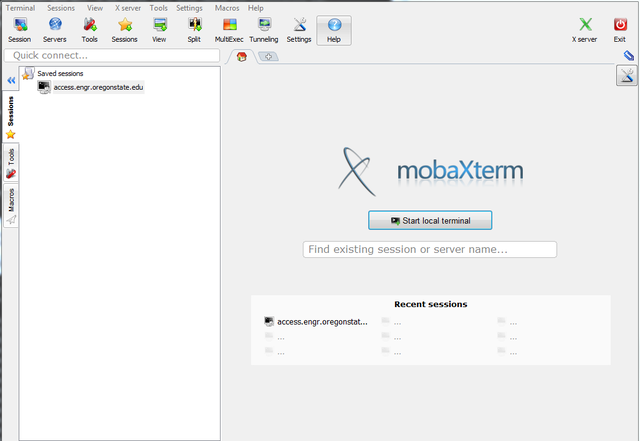 Launch MobaXterm