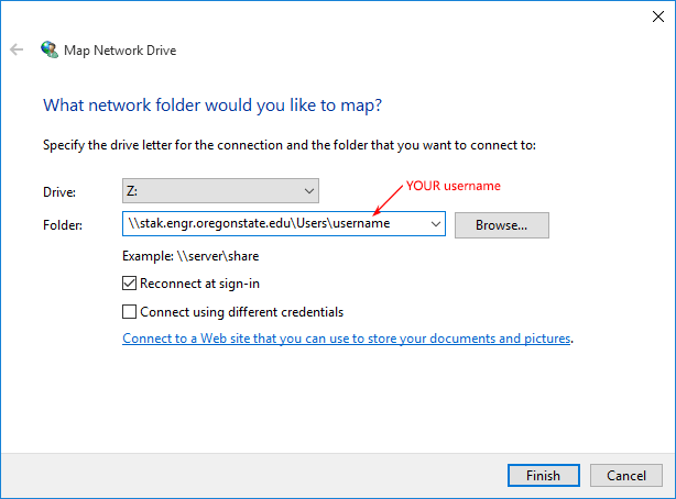 Windows 10 Map Network Drive
